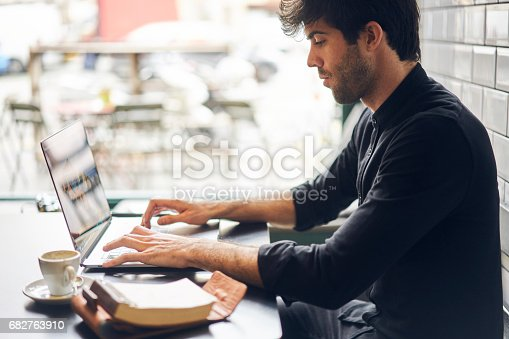 istock Talented well dressed hipster blogger 682763910