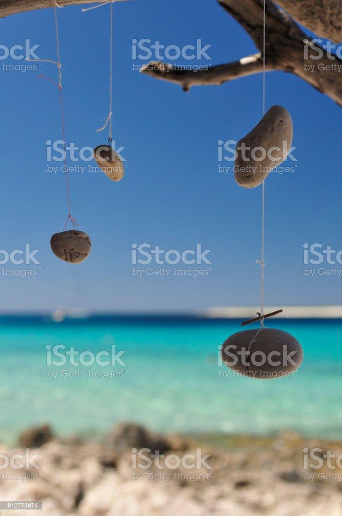 Talisman and Dream Catcher near the sea stock photo