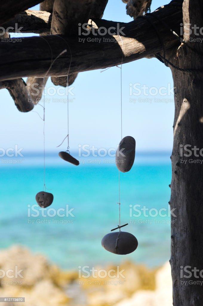 Talisman at sea shelter stock photo