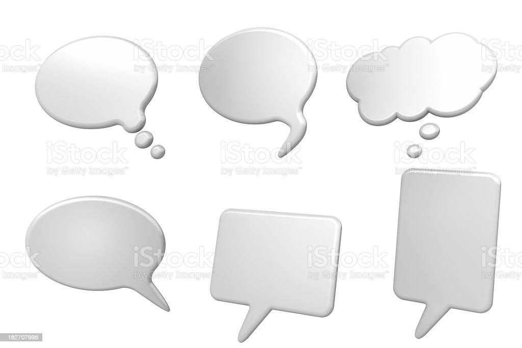 Talk bubbles royalty-free stock photo