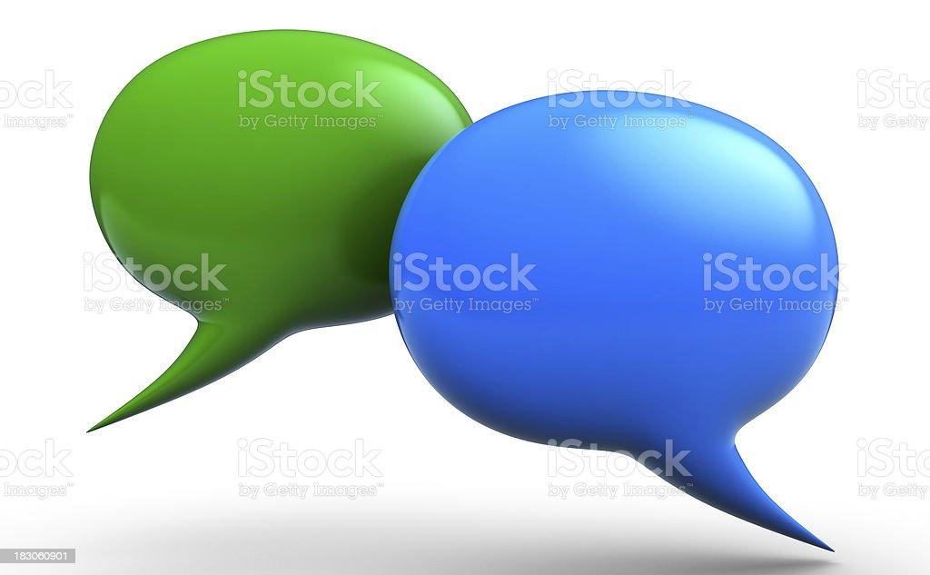3D talk bubbles royalty-free stock photo