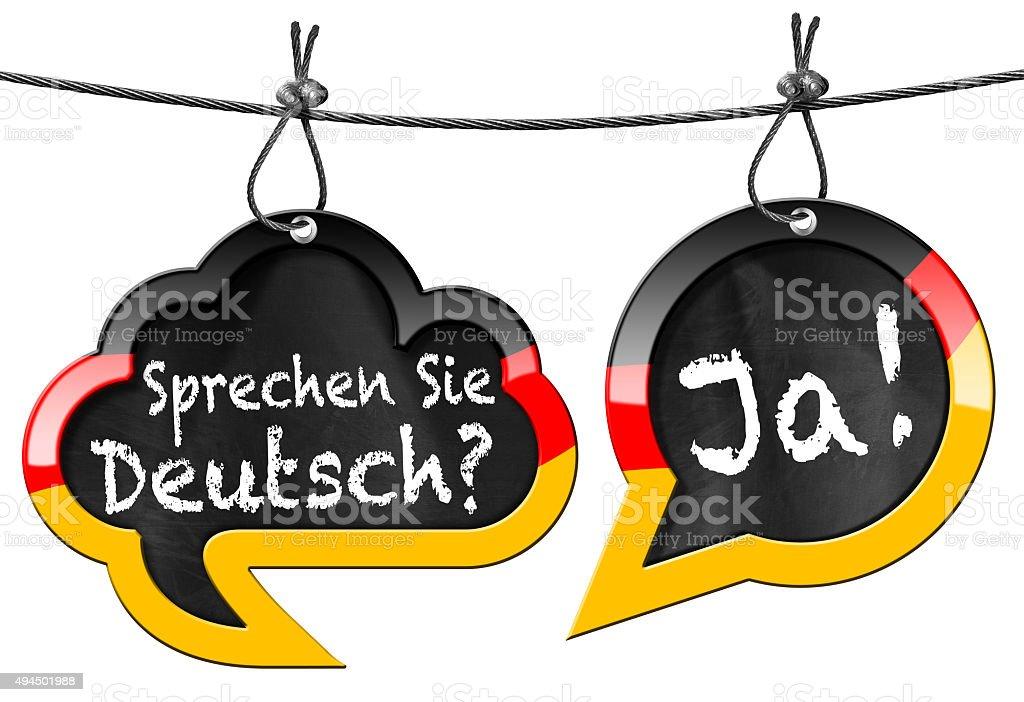 Sprechen Sie Deutsch - Speech Bubbles stock photo