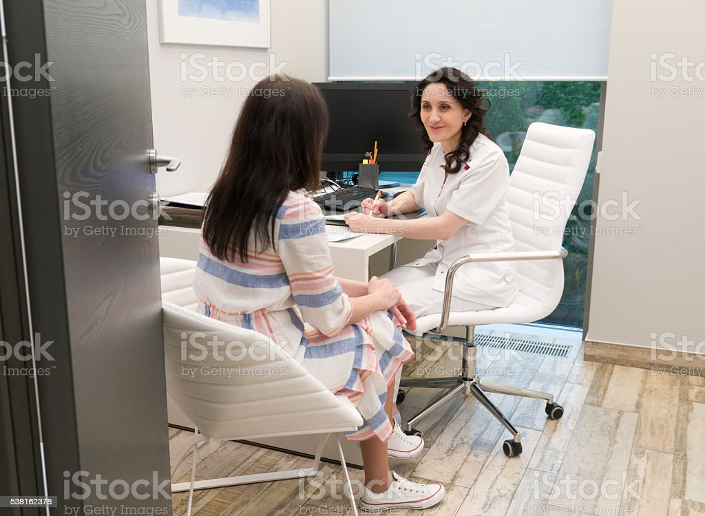 talk to the doctor's office stock photo