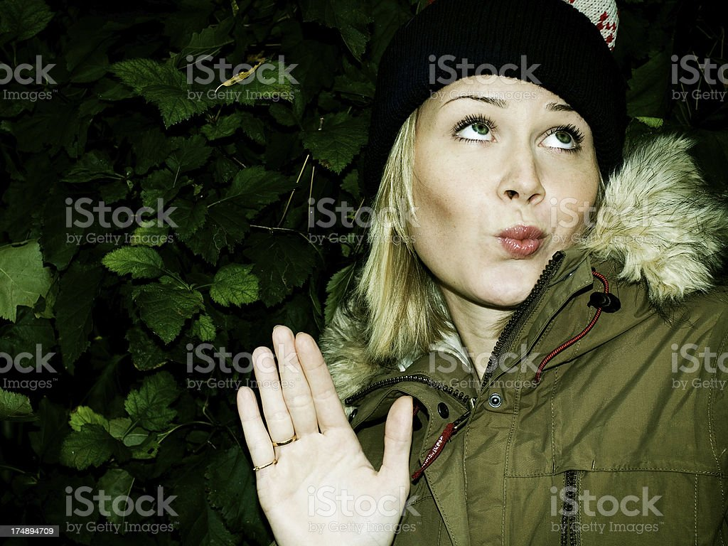 Talk to the hand royalty-free stock photo