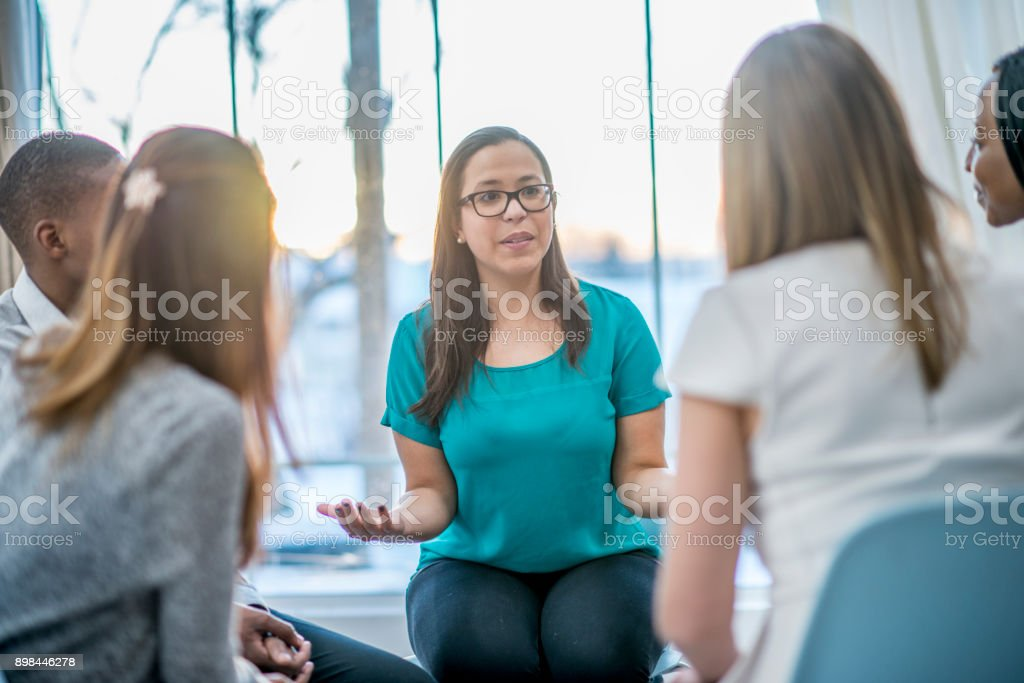Talking About Problems stock photo