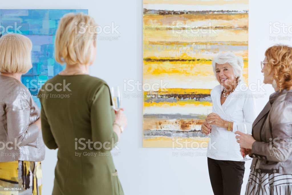 Talking about the paint stock photo
