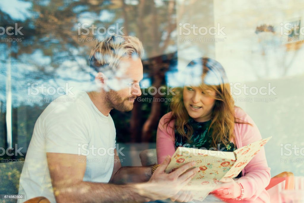 Talking about wedding plans stock photo