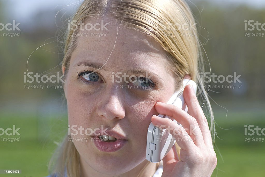 talking at phone royalty-free stock photo
