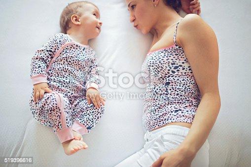 istock Talking baby 519396616