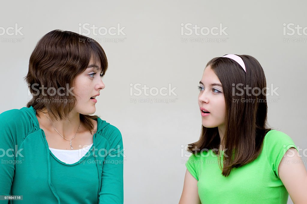 talking beautiful girls royalty-free stock photo