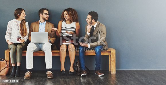 istock Talking business before they go in 858111394