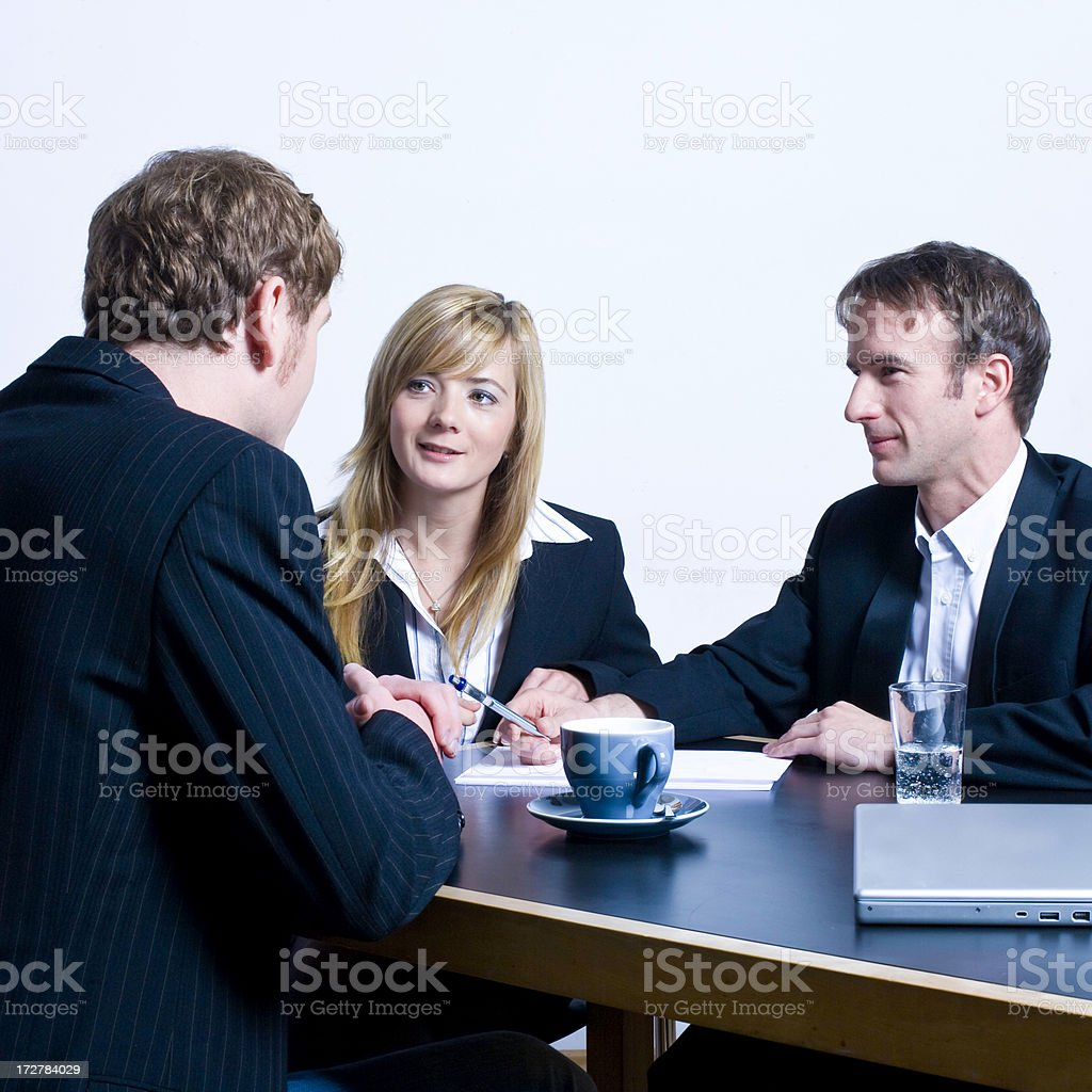 talking business royalty-free stock photo