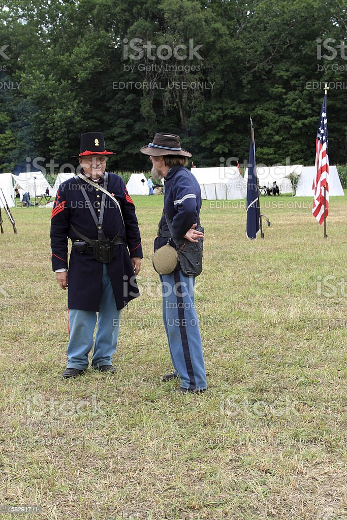 talking duo royalty-free stock photo