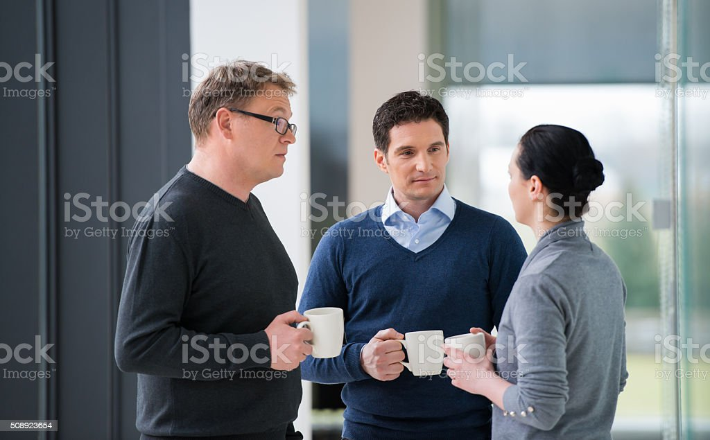 Talking During Coffee Break stock photo