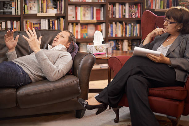Talking is the best therapy stock photo