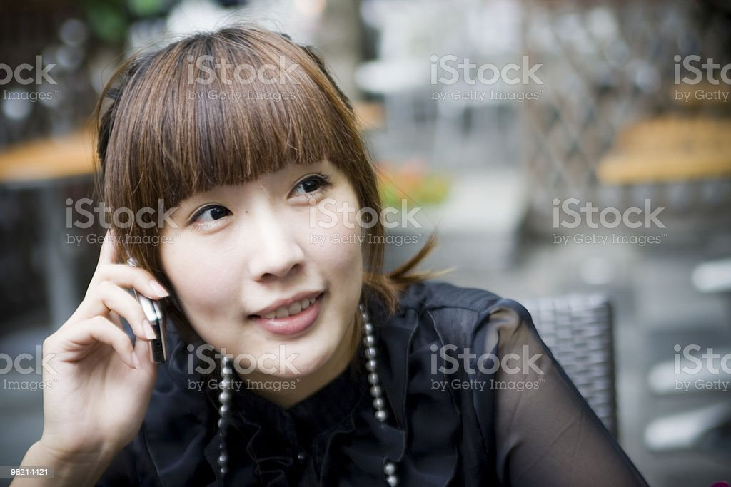 Talking on cell phone royalty-free stock photo