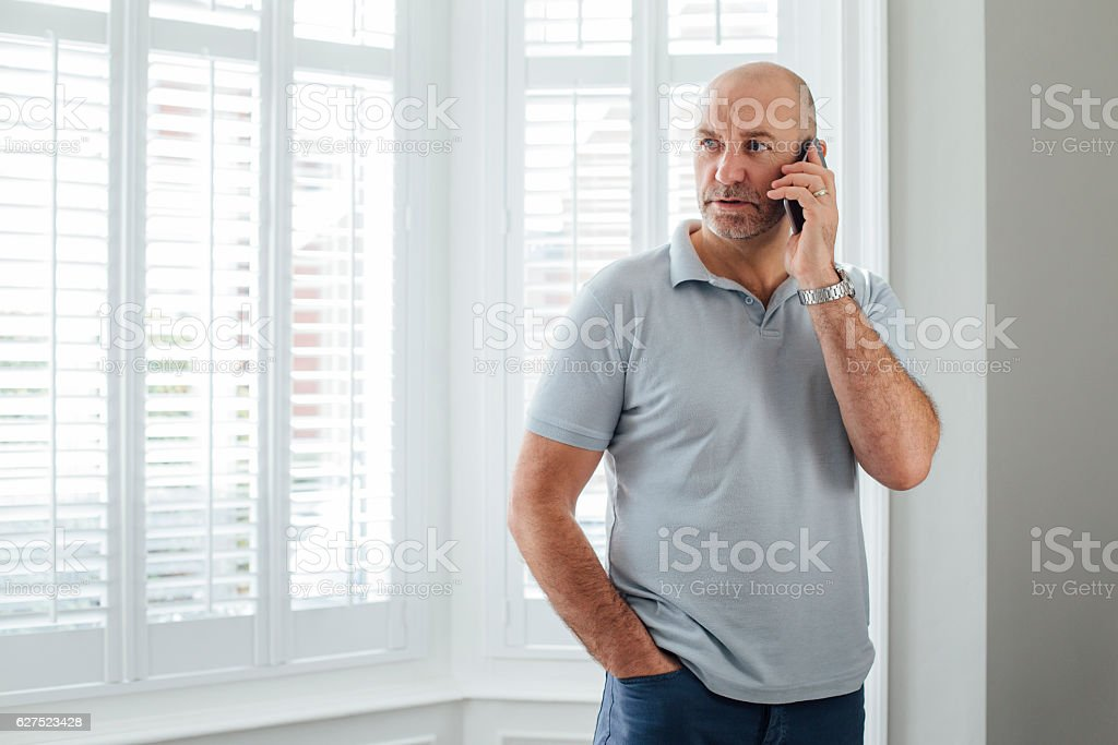 Talking on the Phone stock photo