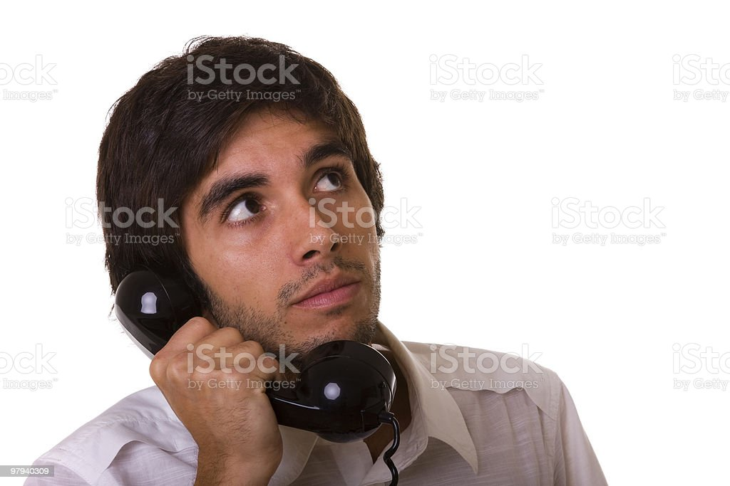 talking on the telephone royalty-free stock photo
