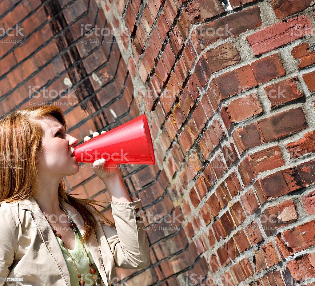 Talking to a Brick Wall royalty-free stock photo