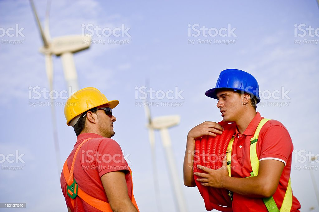 Talking to eachother royalty-free stock photo
