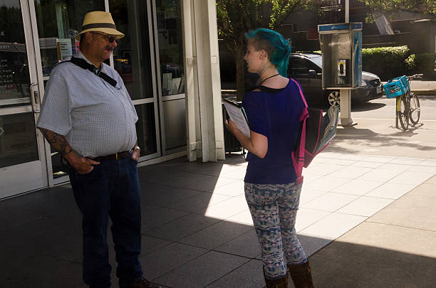 Talking to Voters stock photo