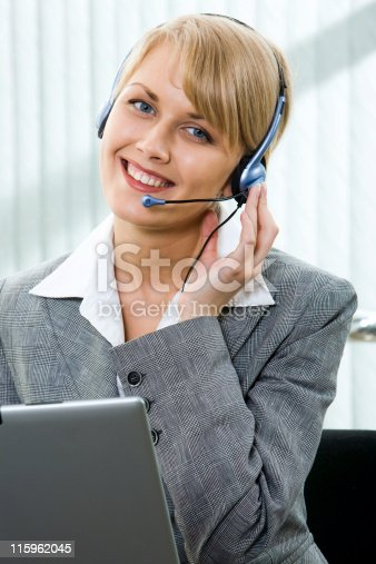 917307226 istock photo Talking with client 115962045