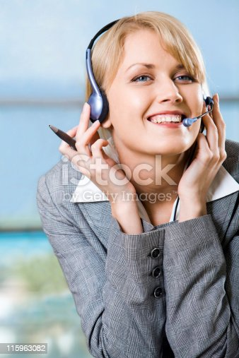 917307226 istock photo Talking with client 115963082