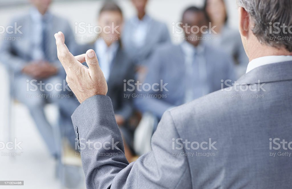 Talking with his hands royalty-free stock photo