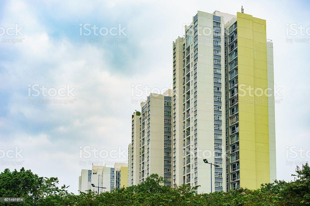 Tall apartment building - Ecopark Hanoi Cityscape Lizenzfreies stock-foto