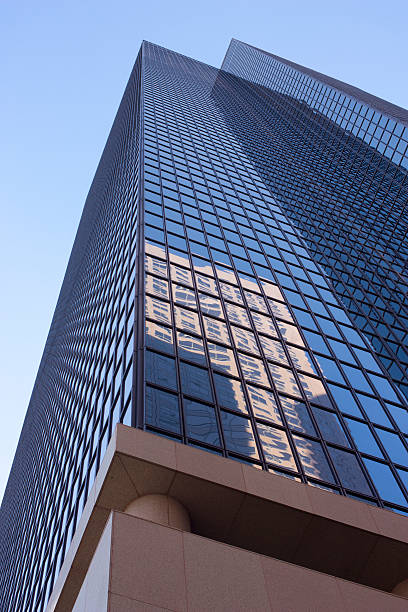 Tall Building on Grand stock photo