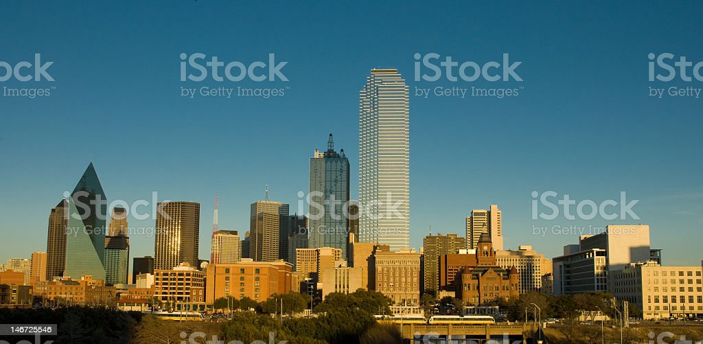 Tall buildings in Dallas Texas stock photo