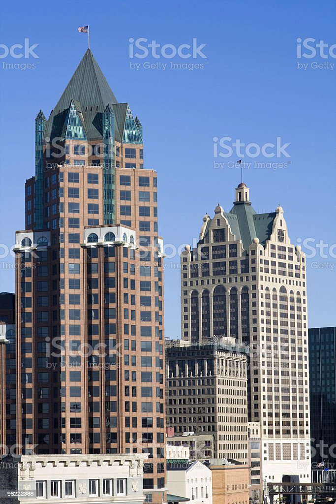 Tall buildings in Milwaukee royalty-free stock photo