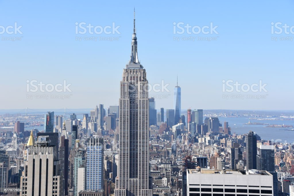 Tall buildings in New York City royalty-free stock photo