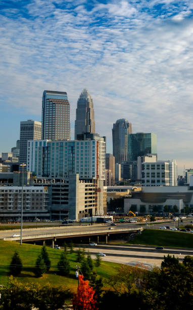 Tall Buildings on a Fall Morning stock photo