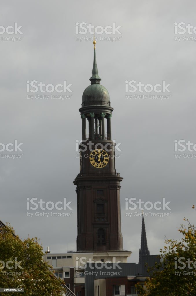 Tall Clock Tower stock photo