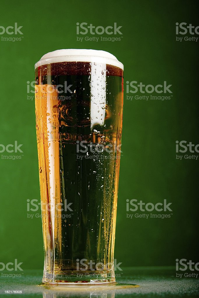 Tall, cold beer stock photo