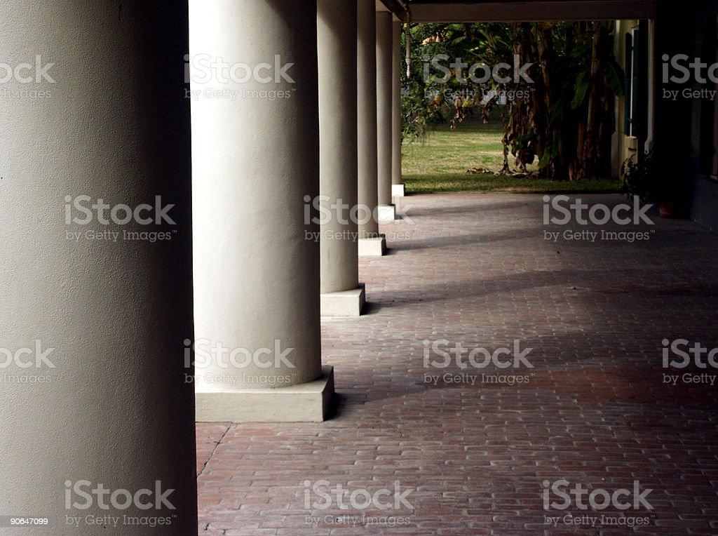 Tall Columns stock photo