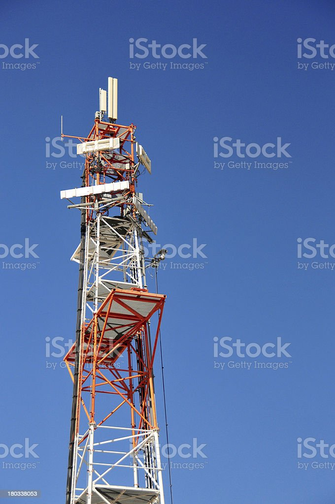 Tall communications antenna, Rachel's Tomb Crossing Checkpoint , Israel stock photo