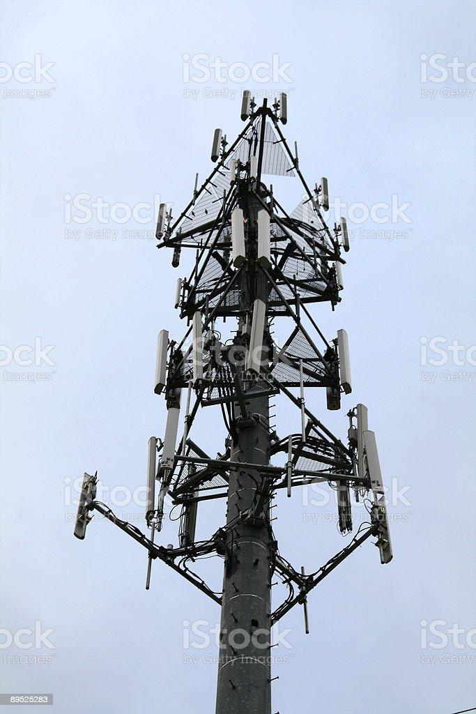 Torre de comunicaciones de altura foto de stock libre de derechos