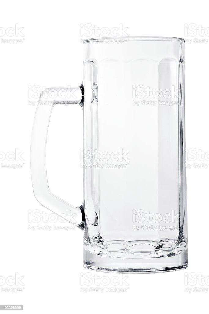 Große leere Bier Becher, isoliert auf weiss – Foto