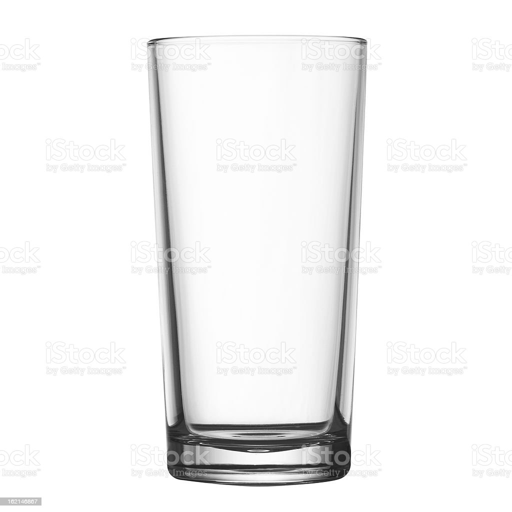 tall empty glass isolated on white clipping path included stock photo