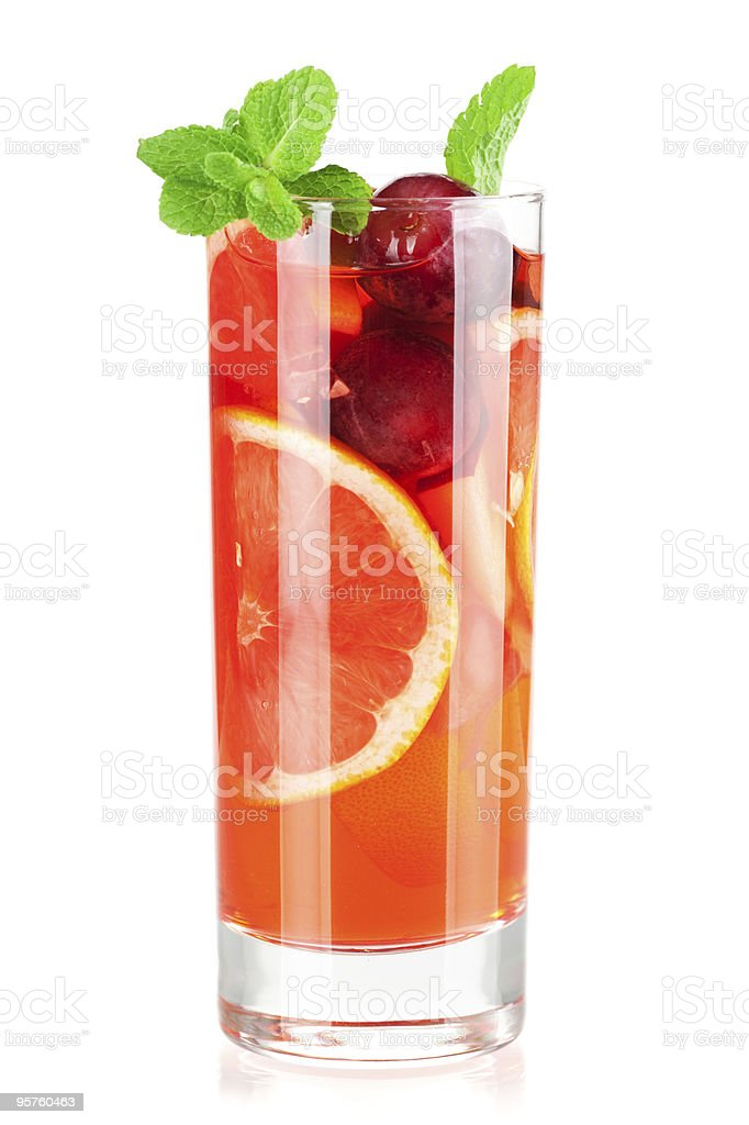 A tall glass of a refreshing alcohol cocktail royalty-free stock photo
