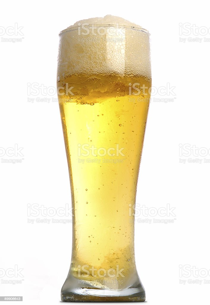 Tall glass of beer royalty-free stock photo