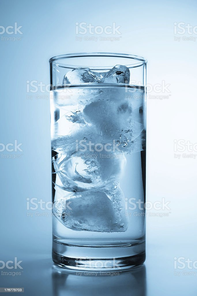 Tall Glass of Ice Water royalty-free stock photo