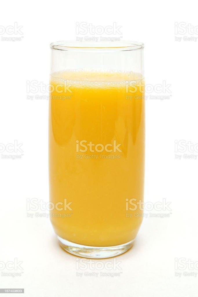 tall glass of orange juice stock photo