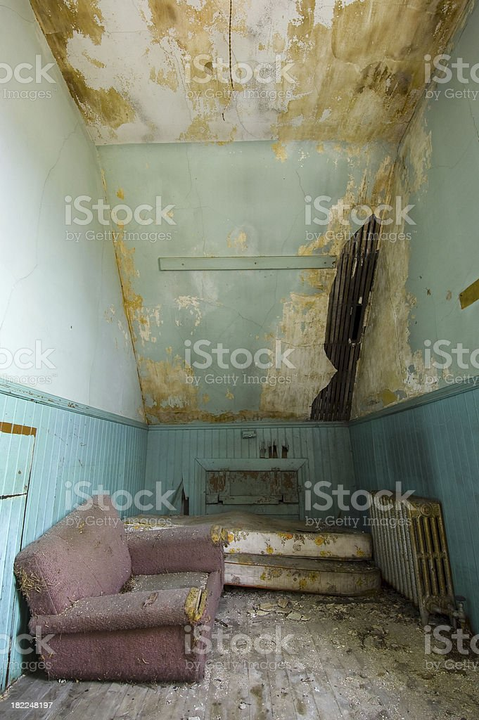 Tall grungy room royalty-free stock photo