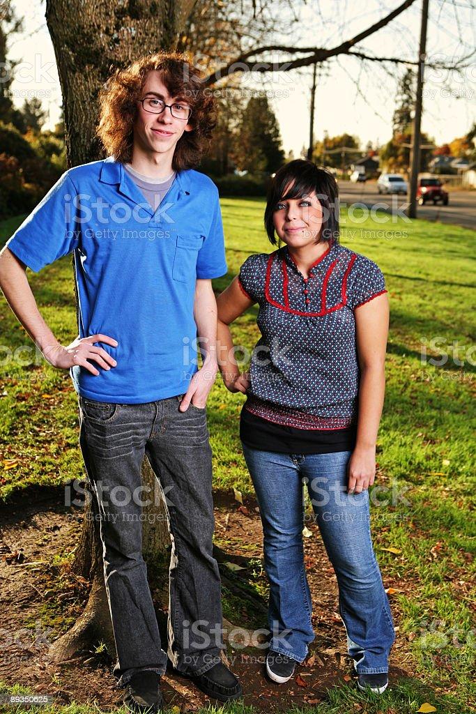Tall Guy Short Girl Portrait royalty-free stock photo