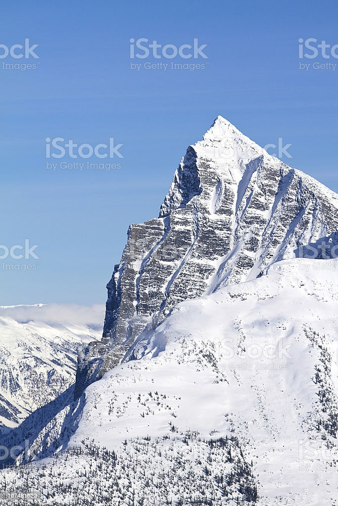 Tall Mountain in Glacier National Park stock photo