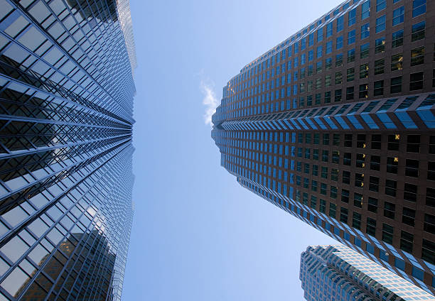 Tall Office Buildings stock photo