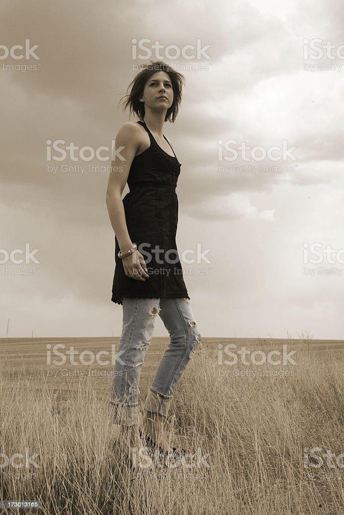 tall prairie beauty royalty-free stock photo